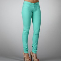 Mint Wash Skinny Jeans