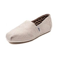 Womens TOMS Metallic Linen Classic Casual Shoe