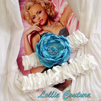 Bridal Garter  Wedding Garter / Custom Wedding & by lolliecouture