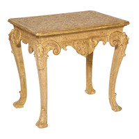1STDIBS.COM - Kentshire Galleries Ltd. - Very fine Queen Anne giltwood strapwork console table.