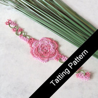 PDF Tatting Pattern Rosa Bookmark - Intermediate - Instant Download