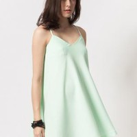 Mint dress with low back