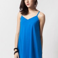 Royal blue dress with low back