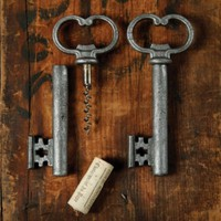 Skeleton Key Bottle Opener and Cork Pull