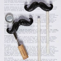 Mustache Bottle Opener and Cork Pull