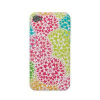 Spring Abstract Flowers Iphone 4 Case-mate Cases from Zazzle.com