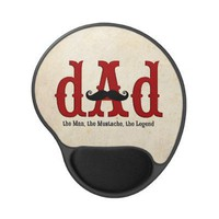 Mustache Dad Gel Mousepad from Zazzle.com