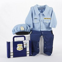Baby Police Officer Outfit Gift Set (Monogram Available) - Ships Mid-July