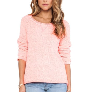 Michael Stars Long Sleeve Pullover in Pink