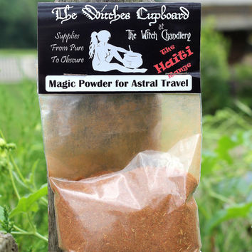 Magic powder for Astral Travel, astral projection, visualisation aid, circle casting, ritual powders, pagan wiccan supplies,hoodoo tricks