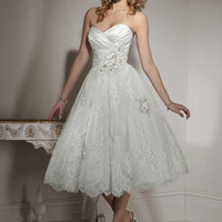 Lovely White Ball Gown Sweetheart Neckline Wedding Dress-SinoSpecial.com