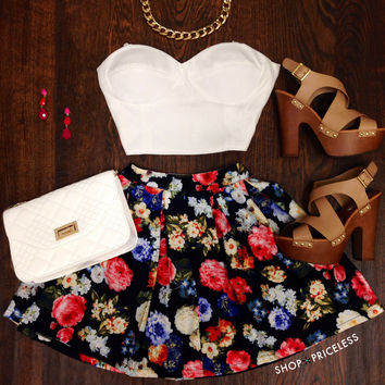 Pretty Lady Floral Skirt