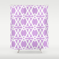 Mezzo - Orchid Shower Curtain by Lisa Argyropoulos | Society6