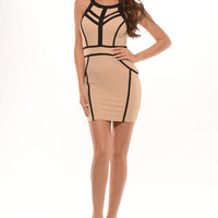 Draw My Lines Dress - Taupe