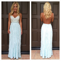 Evening in Paris Maxi Dress - MINT