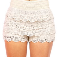 Crochet Cupcake Shorts | Trendy Shorts at Pink Ice