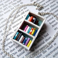 Beach House Bookshelf Necklace by Coryographies by Coryographies