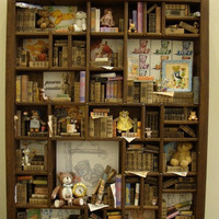 Miniature mini libraries thematic collection of by bagusitaly