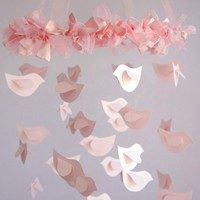 Bird Nursery Mobile In Pink - Nursery Or Room Decor, Wedding Decor | Luulla