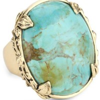 "Barse ""Jubilee"" Turquoise Oval Ring"