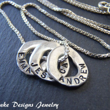 Sterling Silver Personalized necklace name necklace charm