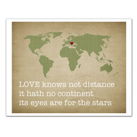Love knows not Distance Map Customized by JaneAndCompanyDesign