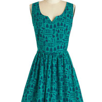ModCloth Sleeveless A-line Forest Things First Dress