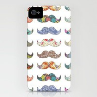 &quot;Mustache Mania&quot; iPhone Case by Bianca Green | URBAN OUTFITTERS Print Shop