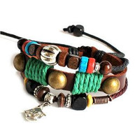 Jewelry Bangle women Leather Bracelet Girl Ropes by braceletcool
