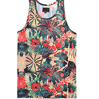 Vandal Toucan Tank Top - Mens Tee - Multi - Medium