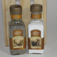 Ultimo Agave Salt and Pepper Shaker, Upcycled Liquor Bottles