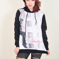 Falling In Reverse Punk Rock Hoodie Jacket Biker Sweater Tops Women Girl Sz S,M,L,XL