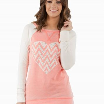 CHEVRON HEART FLEECE