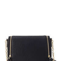 Faux Leather Zippered Crossbody