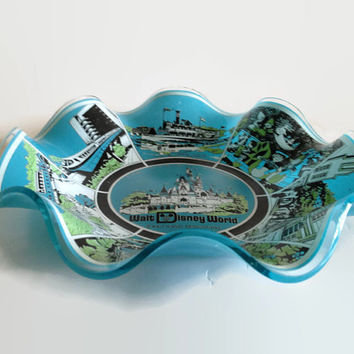 Vintage 1970's Walt Disney World Magic Kingdom Souvenir Dish