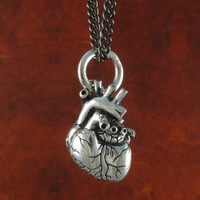 Handmade Gifts | Independent Design | Vintage Goods Anatomical Heart Necklace - Small