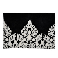 Black/ White Damask Bath Mat
