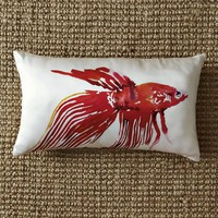Betta Fish Silk Pillow Cover | west elm