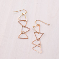 Dear Fieldbinder: 4 Triangle Earrings