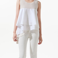 STUDIO TOP WITH ASYMMETRIC FRILLS - Shirts - Woman - ZARA United States