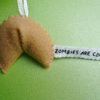 Zombie Fortune Cookie Funny Ornament by TheOffbeatBear on Etsy