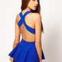 ASOS | ASOS Fitted Top With Peplum And Cross Back at ASOS
