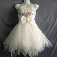 Romance Prom Dress Party White Dress Teen Girl by midress