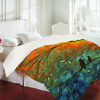 DENY Designs Home Accessories | Madart Inc. &quot;Birds Of A Feather&quot; Duvet Cover