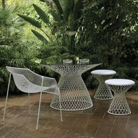 EMU Metal Mesh Glass Outdoor Dining Table at HomeInfatuation.com.