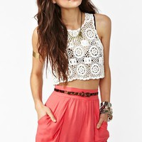 Drape Pocket Shorts in Coral