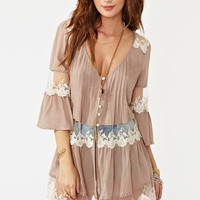 Ashbury Lace Top in Mocha