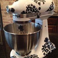 Kitchen Mixer Vinyl DecalsDamask