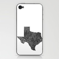 Texas Lines iPhone & iPod Skin by Romi Vega | Society6