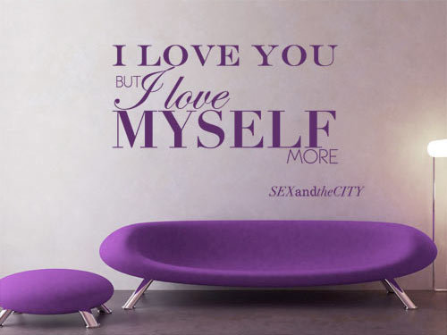 Quote wall decal - I Love you but... - Wall Decals , Home WallArt Decals